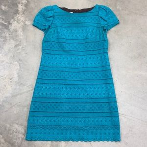 Anne Klein Turquoise Lace Dress
